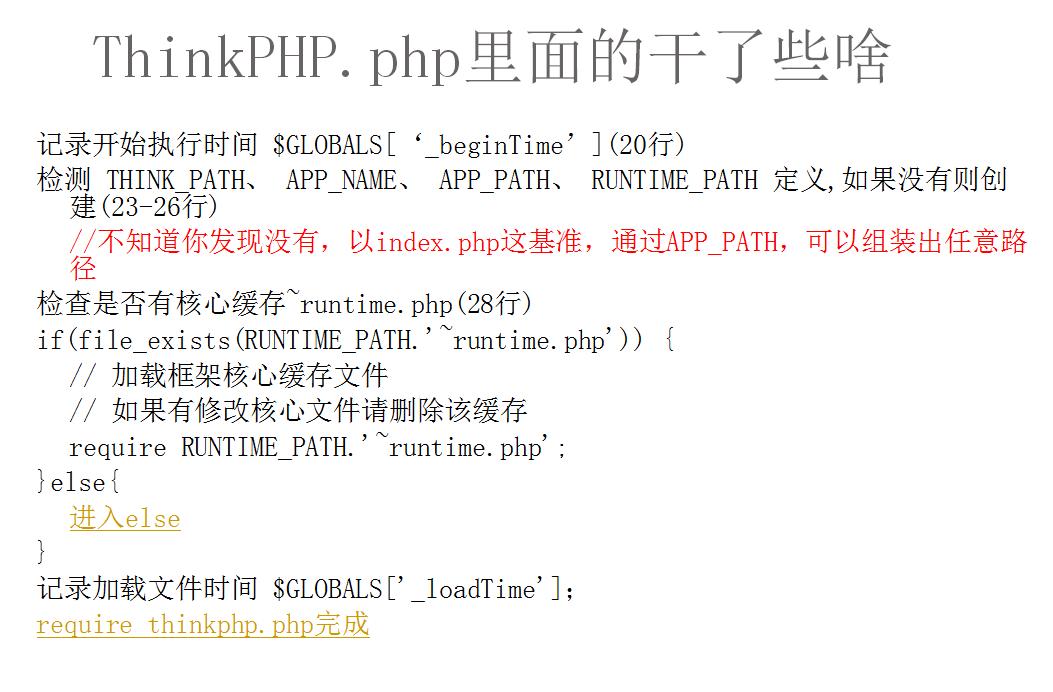 ThinkPHP的执行流程