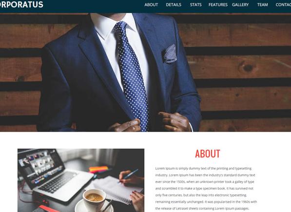 大气扁平电子商务企业官网网站模板