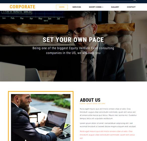宽屏电子商务集团网站模板