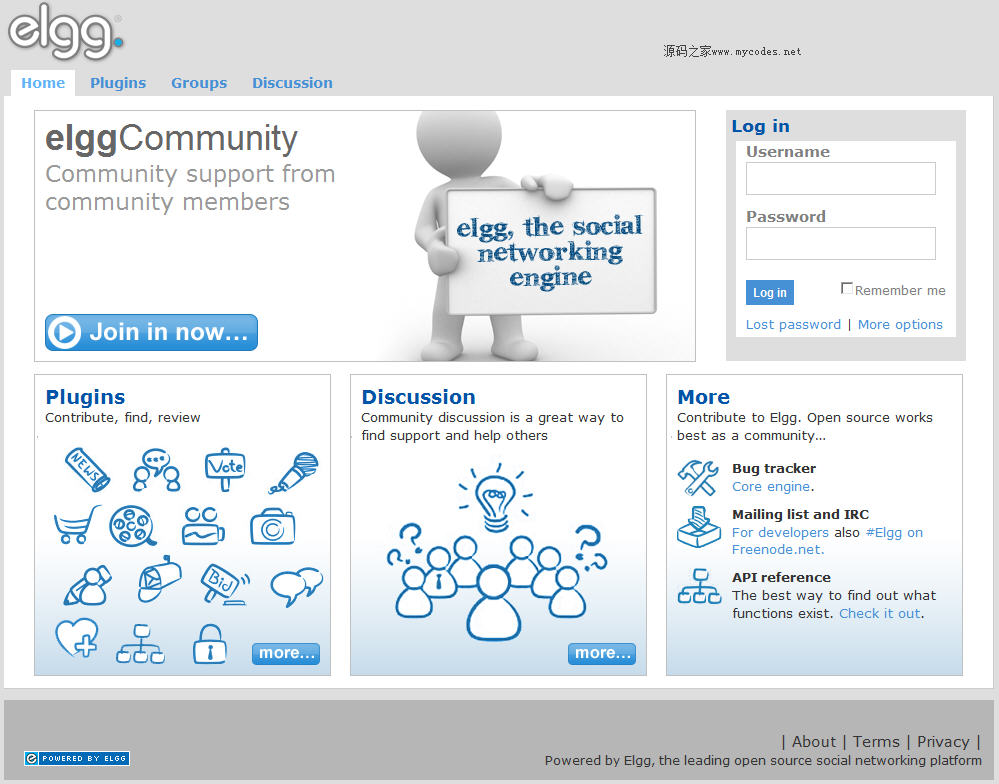 Elgg开源社交网络引擎