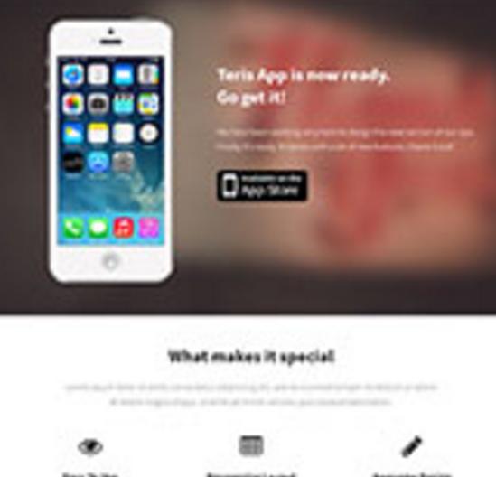App Store开发者单页模板