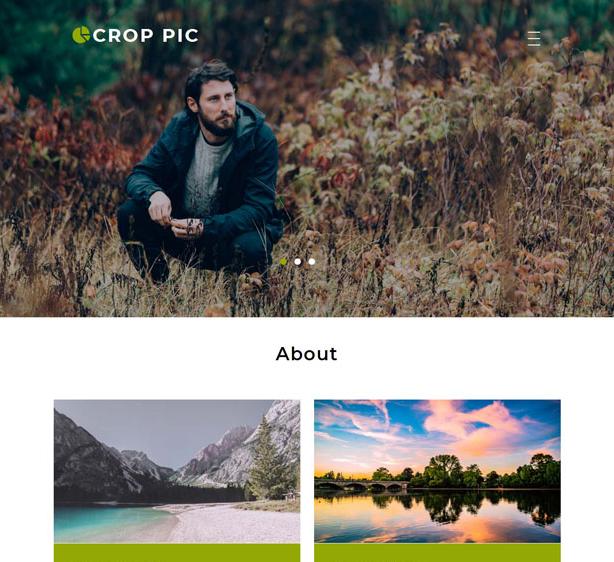 风景图片拍摄网站模板
