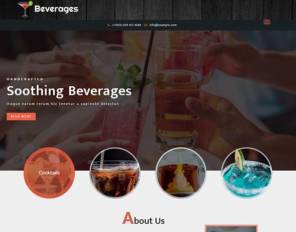 彩色鸡尾酒公司网站模板