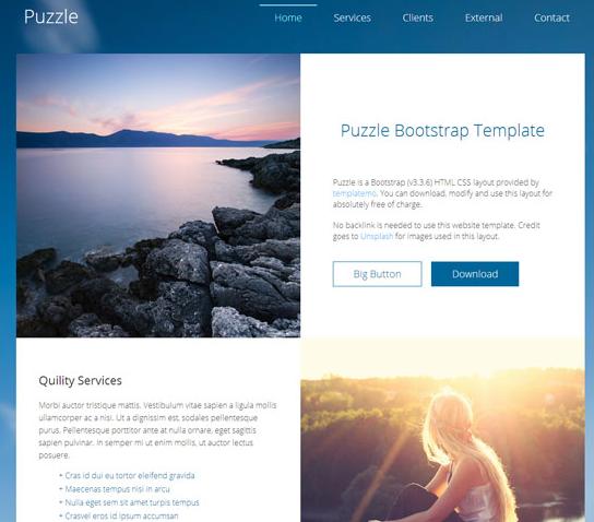 蓝色小清新个人博客网站模板