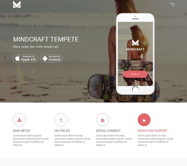 沙滩系列Apple iOS应用开发软件模板
