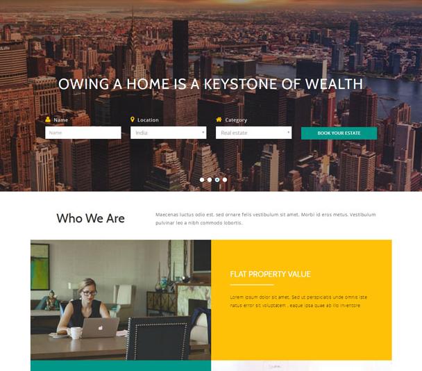 扁平化大气商业金融网站模板