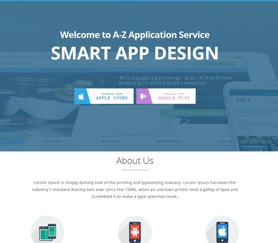 蓝色微信小程序开发网站模板