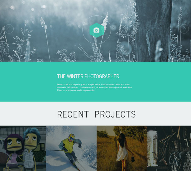 绿色摄影相册展示bootstrap模板