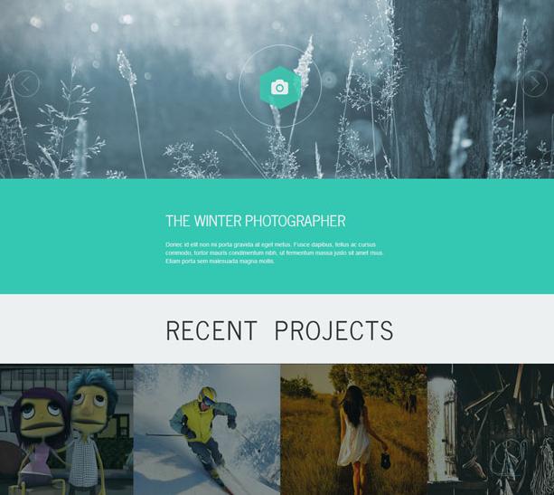 綠色攝影相冊展示bootstrap模板