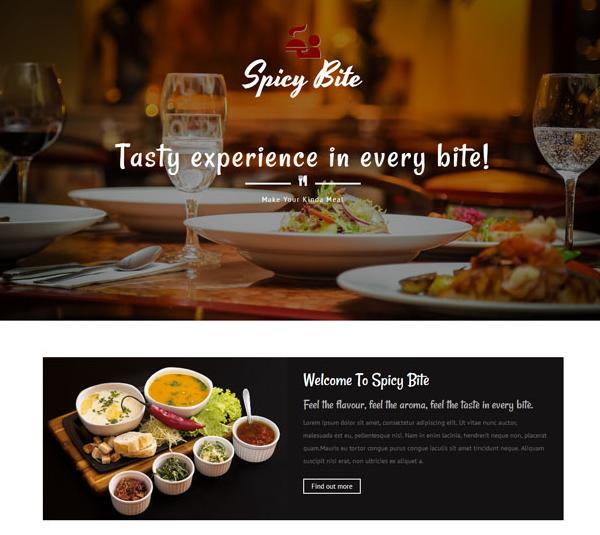 紅色大氣西餐餐飲網站模板