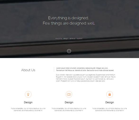 素色簡潔工業設計官網模板