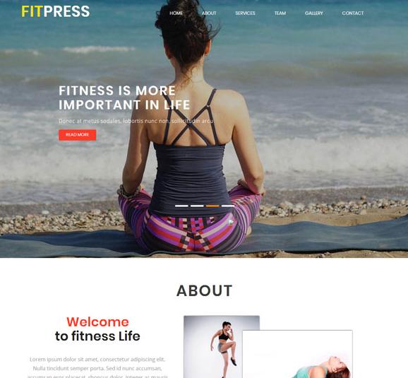 瑜伽休闲锻炼网站模板