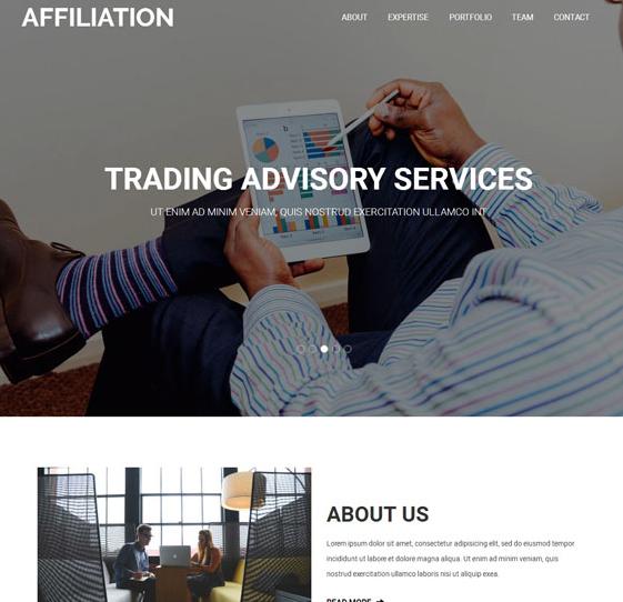 灰色国外商务联系公司网页模板