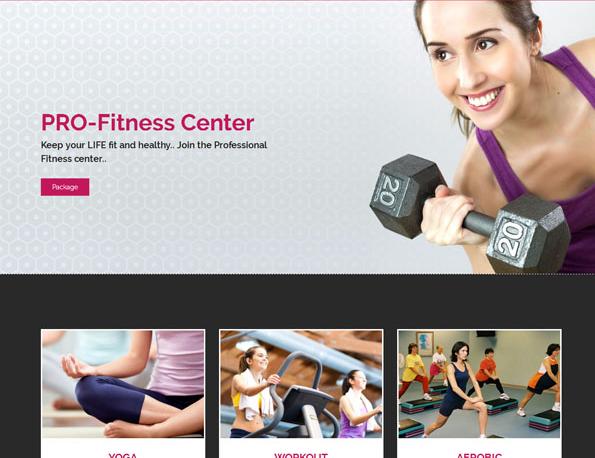 大气健身有氧运动网站模板