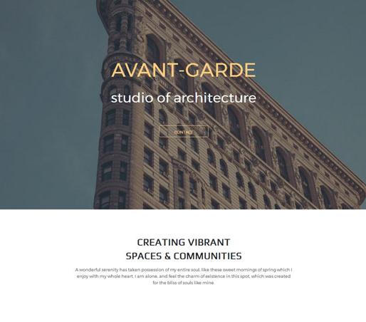 简约大气建筑设计网站模板