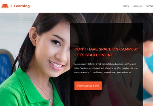 在线教育培训机构HTML5模板