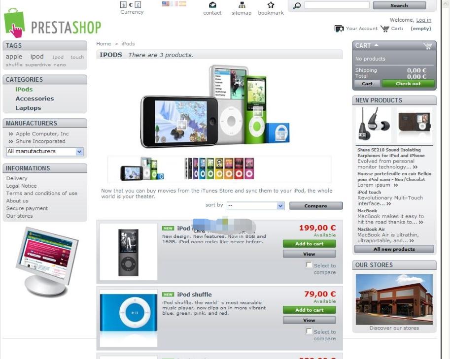 v1.7.3.3 PrestaShop开源电子商务