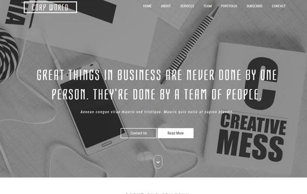 灰白色企業設計網站模板