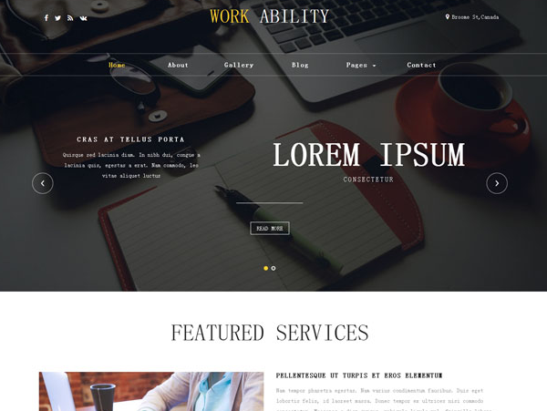 高端线条设计公司网站模板