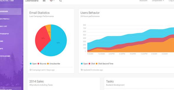彩色软件UI界面后台管理模板