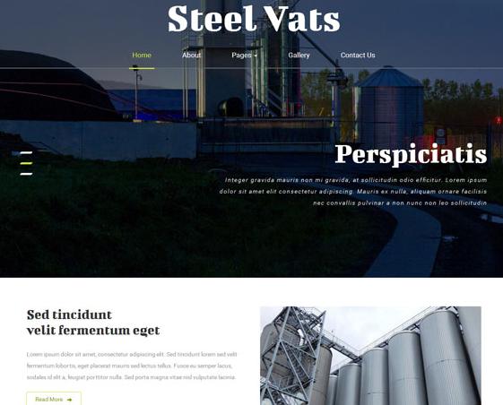 大气工业信息化网站模板下载