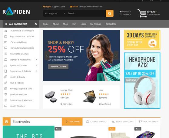 响应式html5电商销售模板
