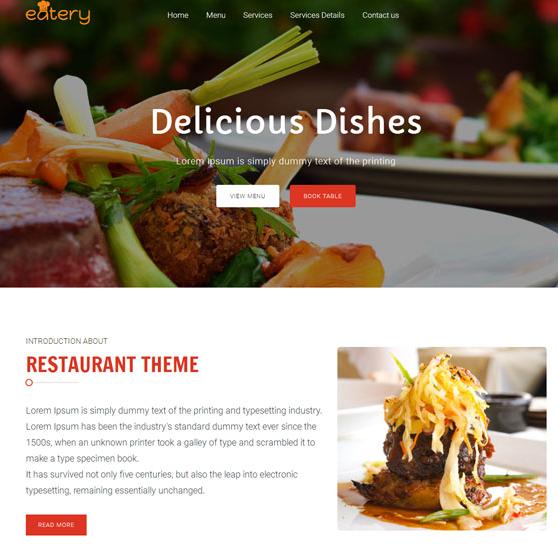 響應式西餐廳網站html5模板