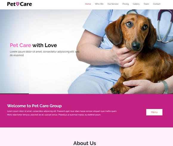 狗狗宠物医院加盟店官网模板