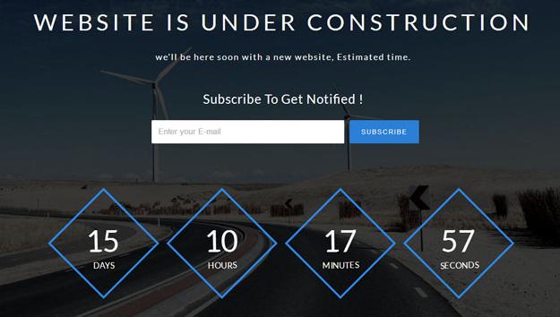浅蓝色蓝色网站上线倒计时模板