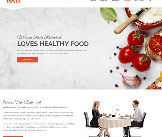響應式綠色西餐廳企業網站模板