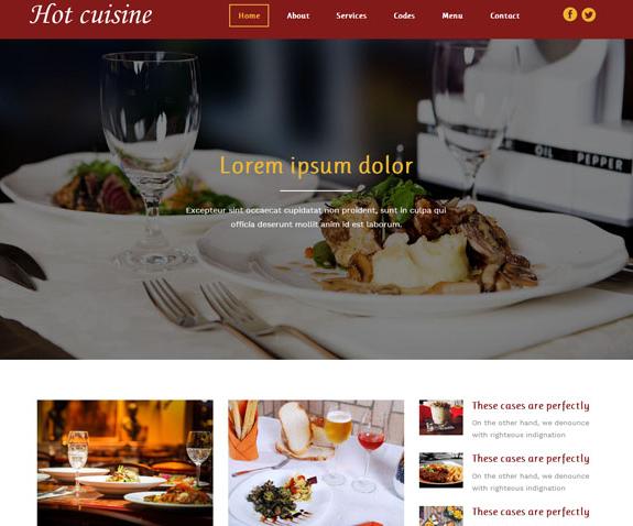 美食酒店网站前端模板免费下载