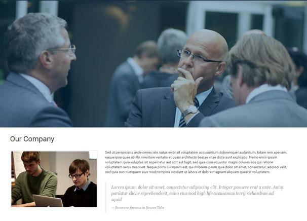 商务交流平台灰色网站模板