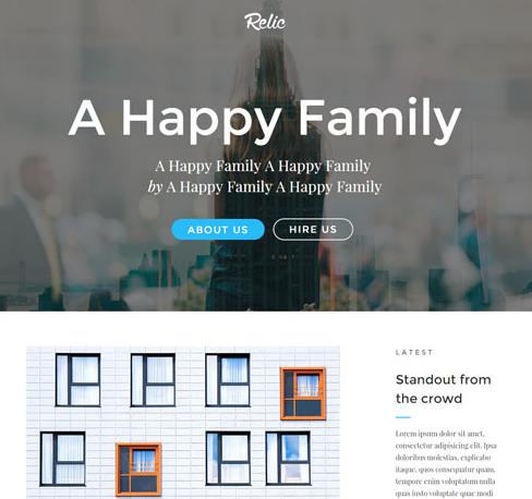HTML5攝影工作室作品網站模板