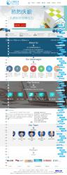 藍色網絡科技公司網站模板