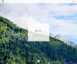HTML5全屏簡約設計師個人主頁模板