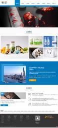 蓝色印刷设计公司HTML5模板