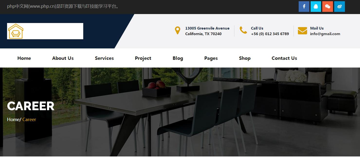 高端大气响应式家居商务办公装饰装修设计公司HTML5网站模板