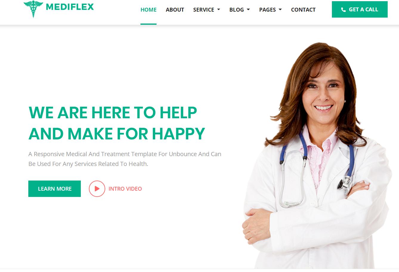 HTML5绿色响应式医院医疗康复保健机构网站模板