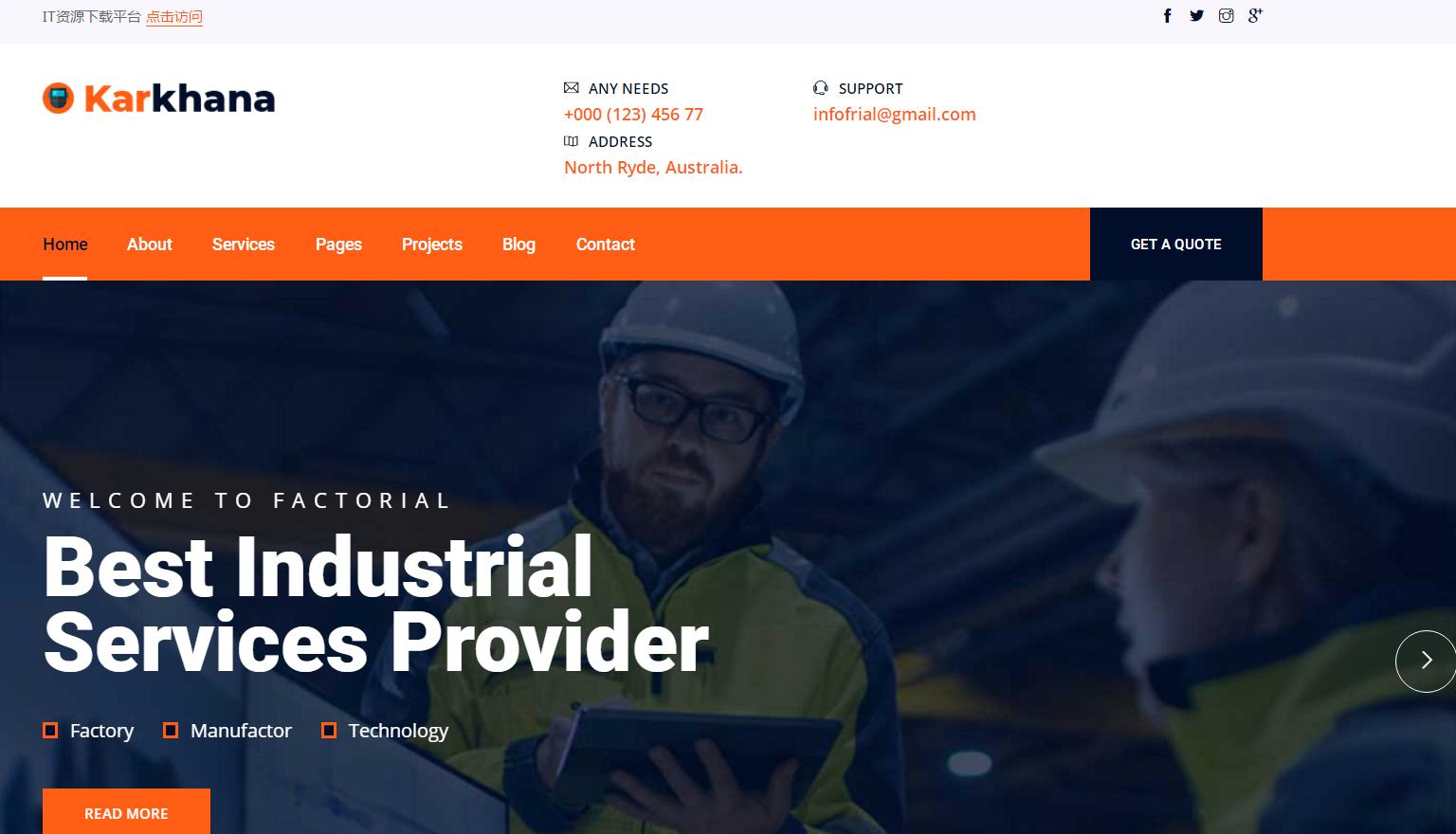 大型重工机械设备制造工程设计施工公司企业官网HTML5响应式网站模板