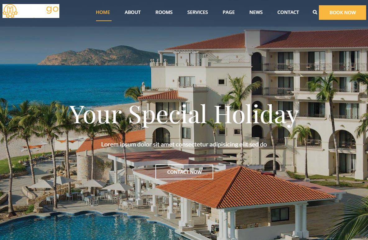 2019宽屏大气响应式高端休闲旅游度假酒店HTML5网站模板
