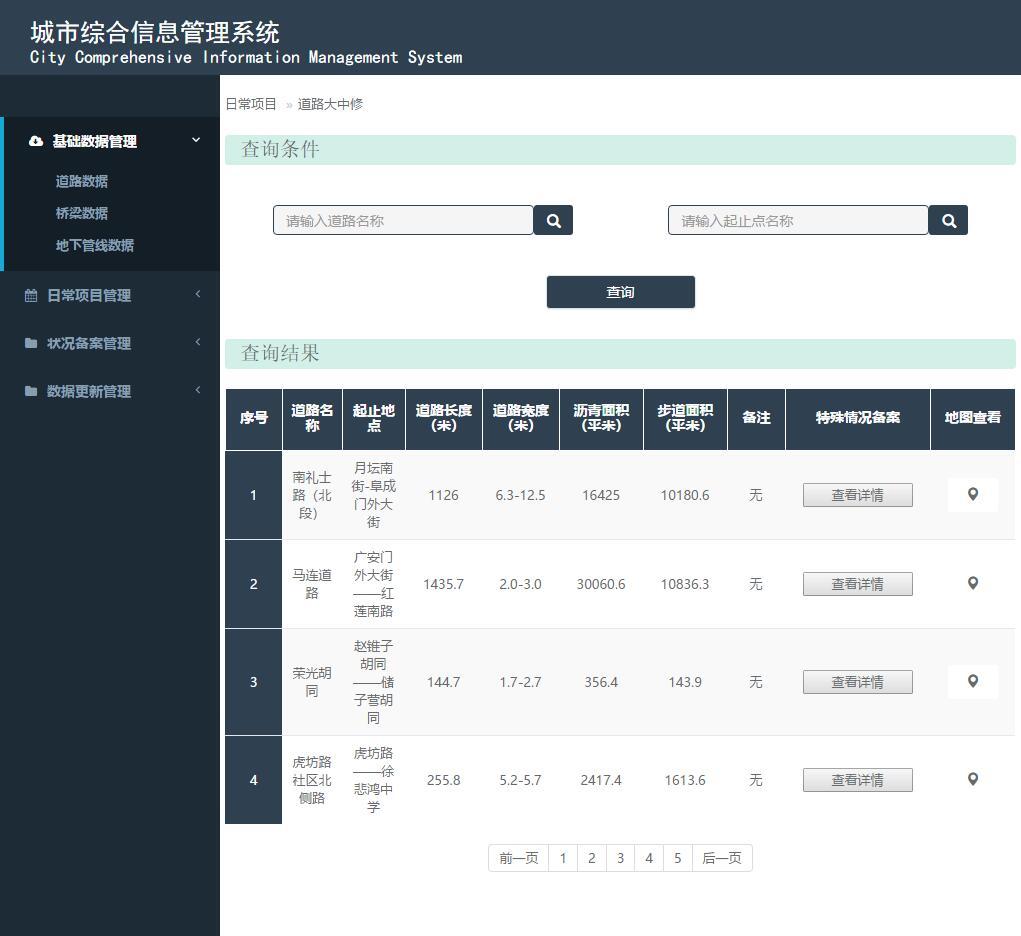 城市综合信息管理系统layui后台界面模板