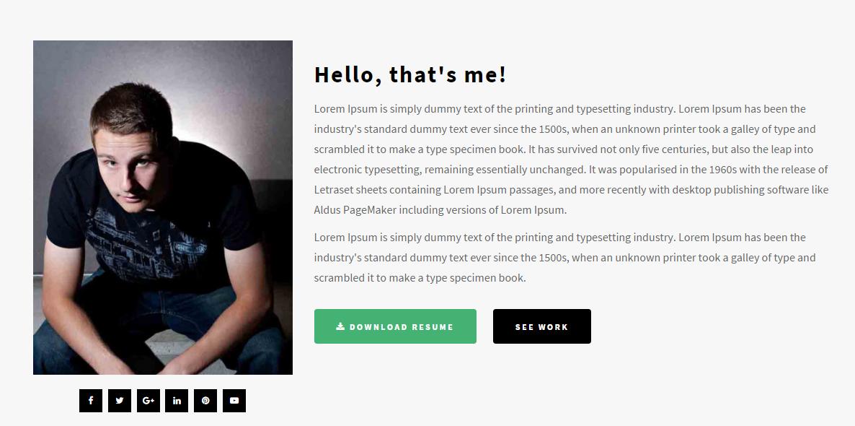 响应式个人网站HTML5模板