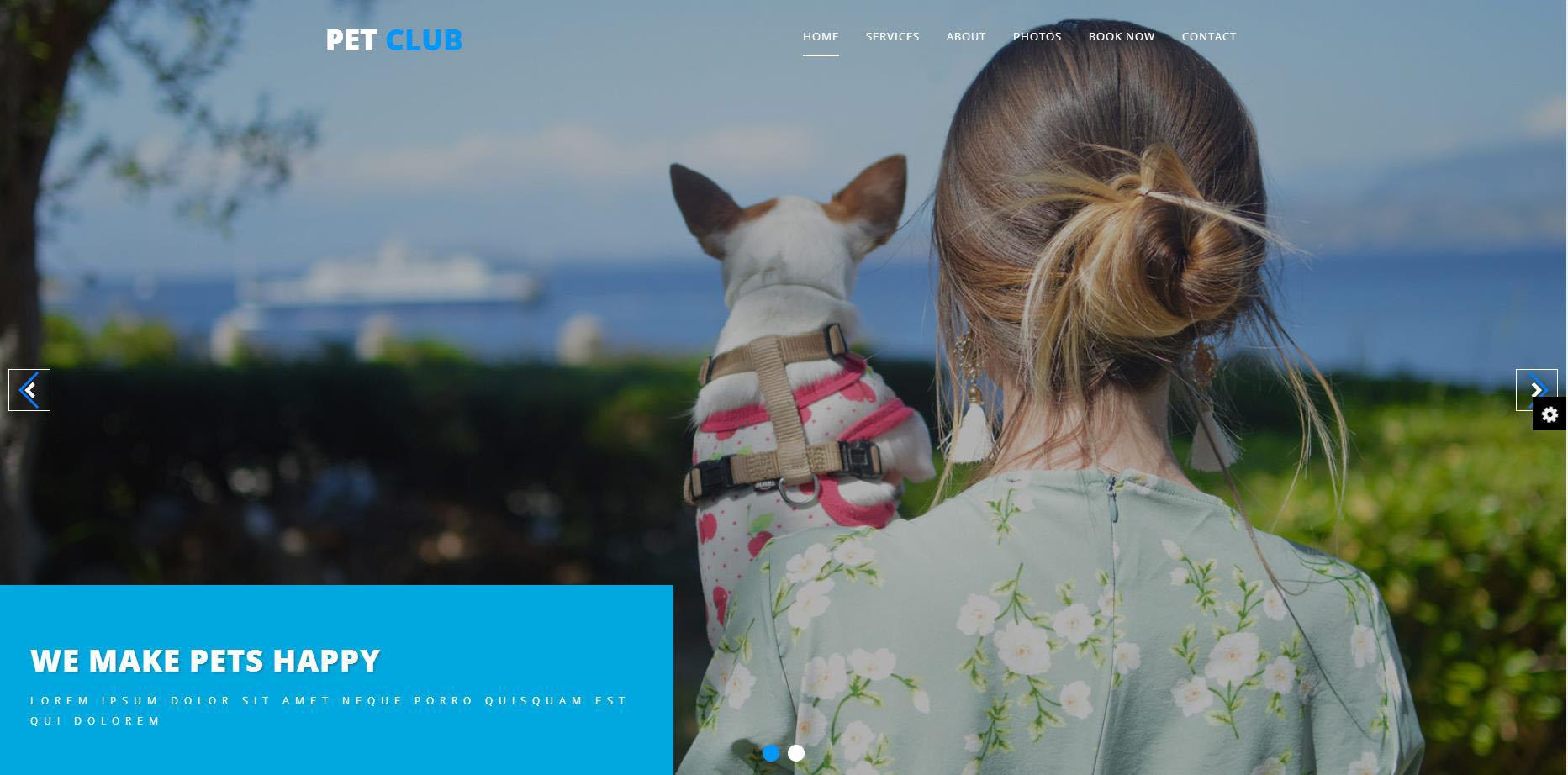 宠物之家响应式网站模板