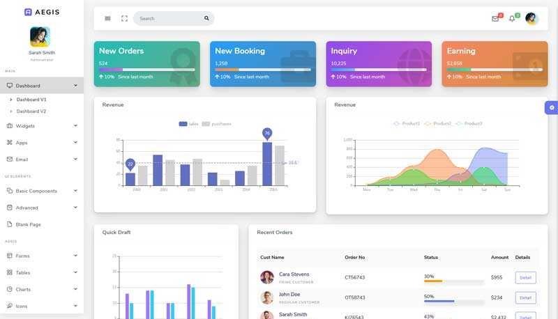 实用的企业订单销售管理cms模板