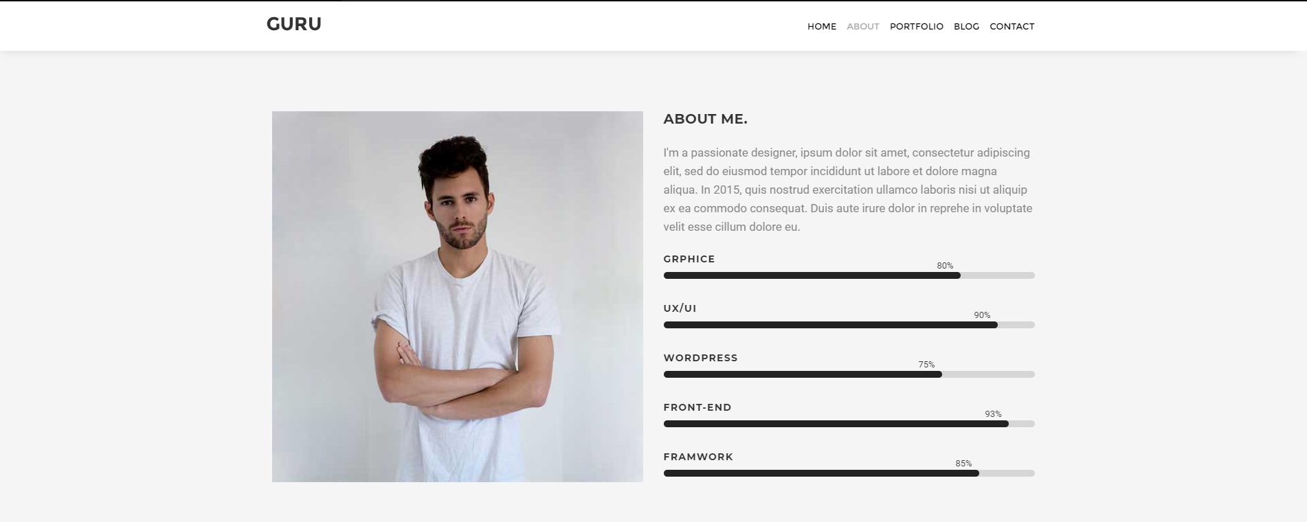 简洁清爽的jQuery单页个人网站模板