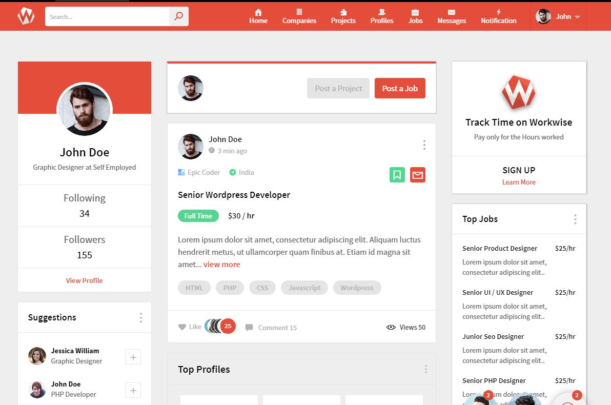 Bootstrap博客类网站模板