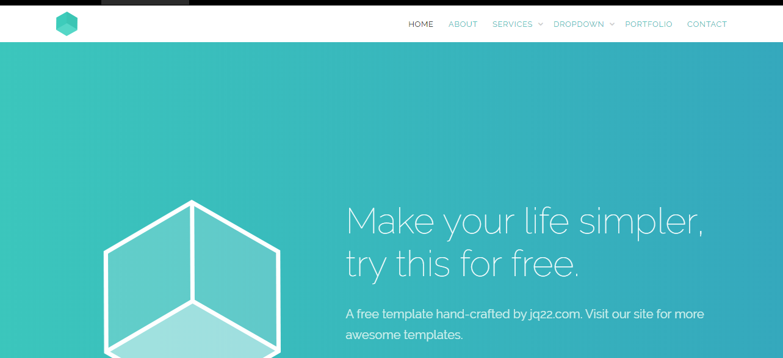 简洁的jQuery bootstrap响应式网站模板