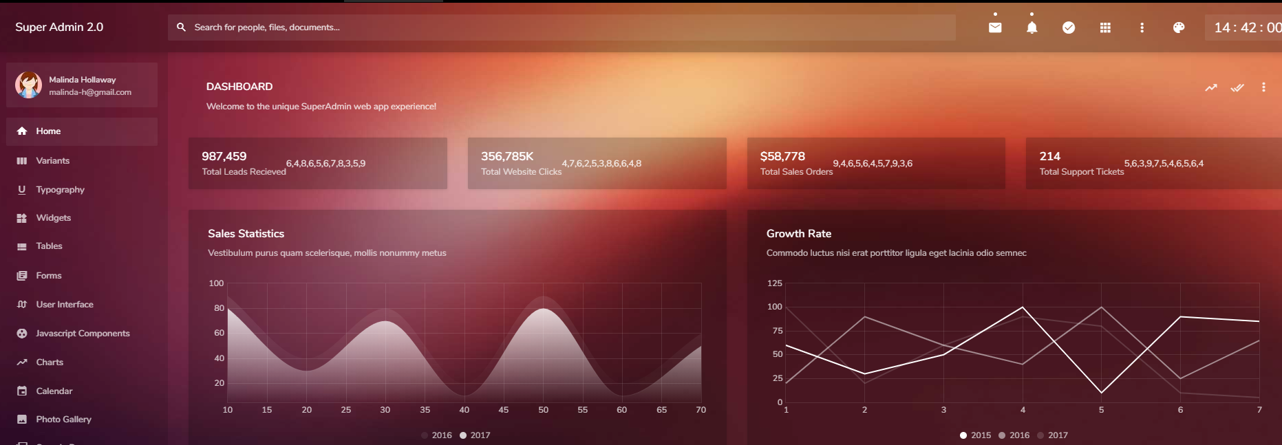 Bootstrap 后台管理模板SuperAdmin2