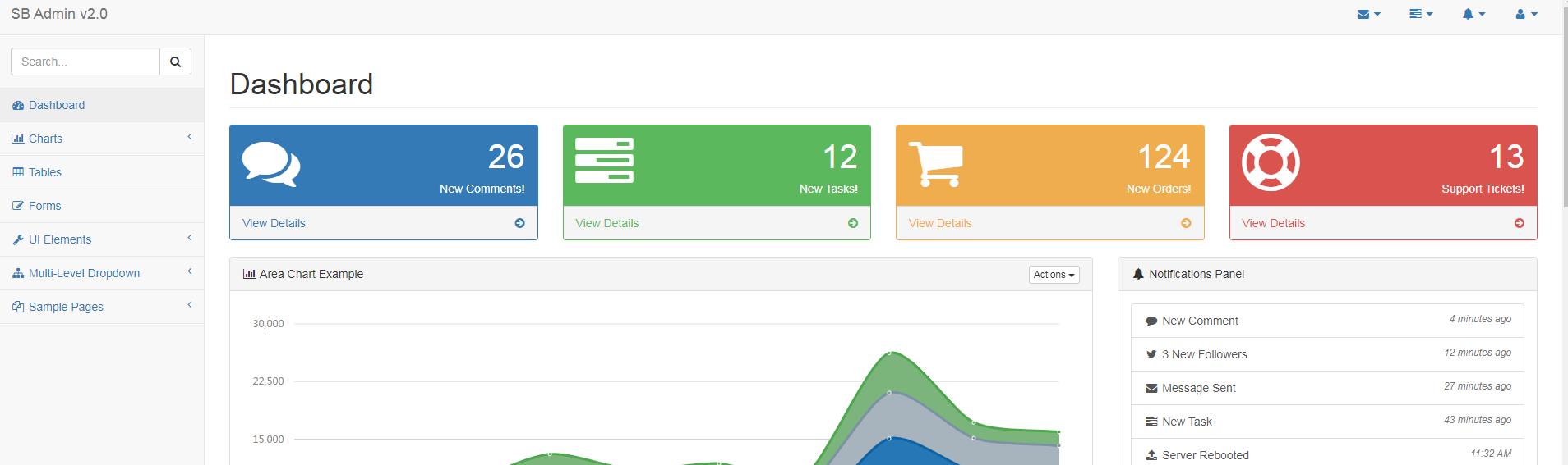 后臺管理模板Bootstrap