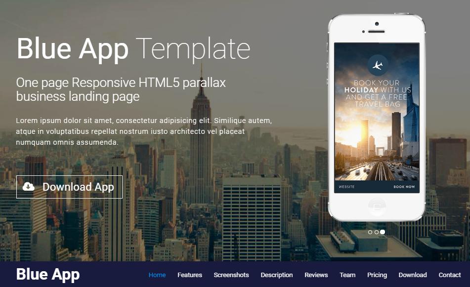 響應式app網站模板